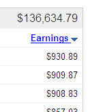new AdSense earnings